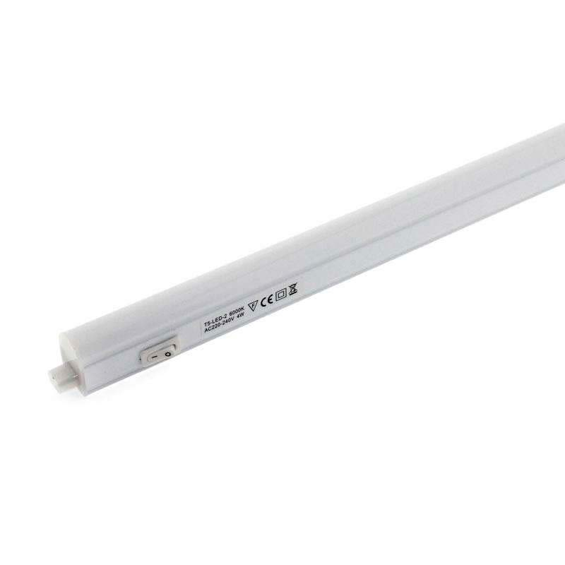 Tubo LED T5 Integrado con interruptor, 7W, 57cm, Blanco neutro